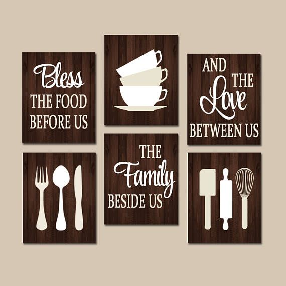 KITCHEN Quote Wall Art, Kitchen CANVAS Or Prints Bless