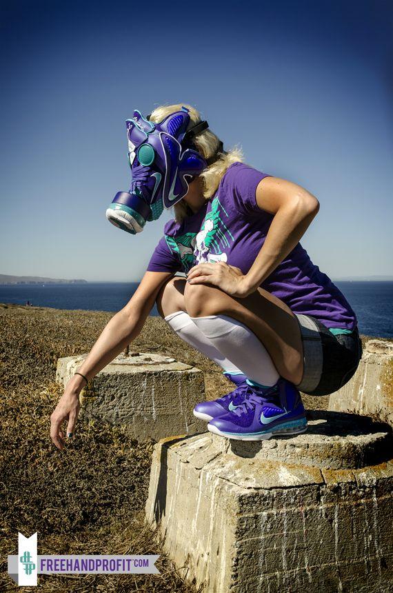 Nike LeBron 9 Summit Lake Hornets Gas Mask by Freehand Profit
