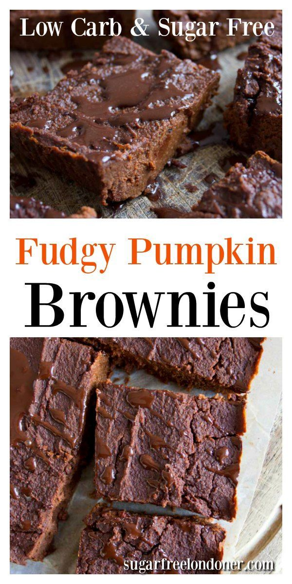 Fudgy Pumpkin Brownies - The Best Healthy Brownie Recipe Fudgy Pumpkin Brownies are decadently choc