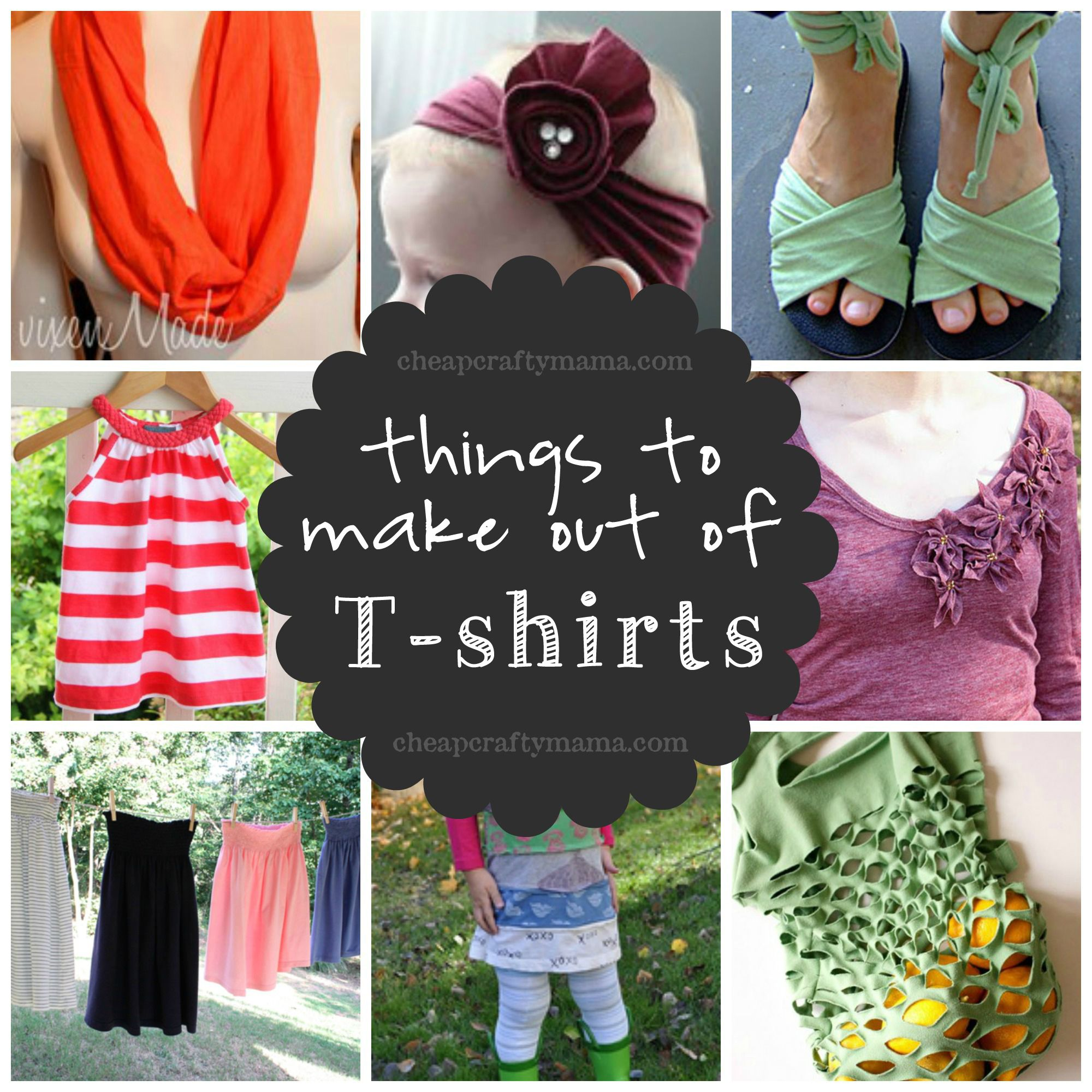 Lots of cool things to make out of t shirts share today for How to make new things from old things