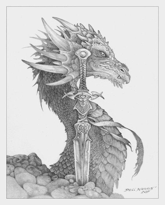 Combo Of His Favorite Things Celtic Drawings Fantasy