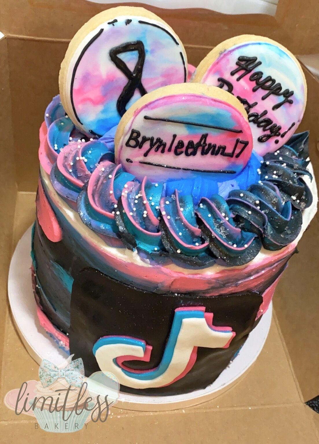 Tiktok Themed Birthday Cake Themed Birthday Cakes Unique Birthday Cakes Birthday Cake