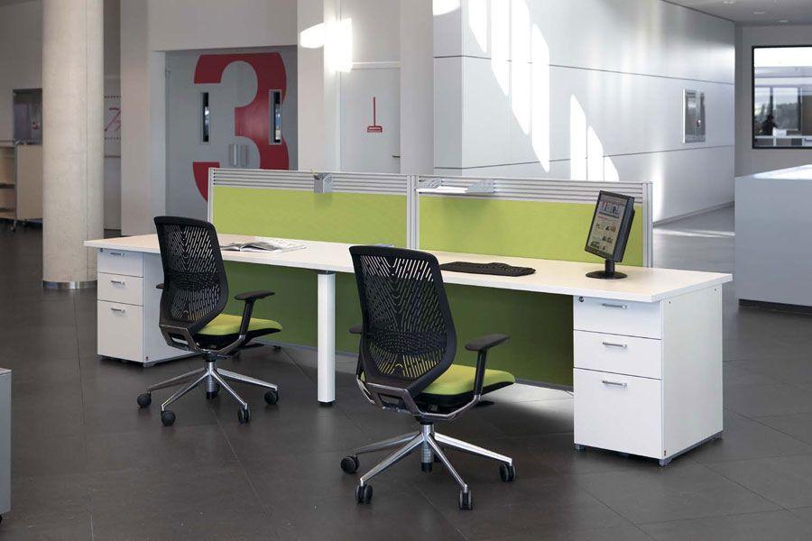 cool office desks. New 2010 Office Desks Furniture Cool Actiu Green White Table E