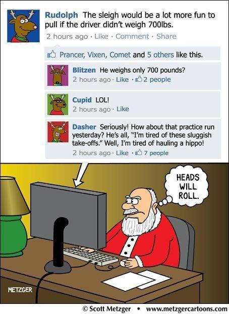 Santa Knows How To Use A Computer We Are Now All On The Naughty List Christmas Humor Christmas Jokes Christmas Comics