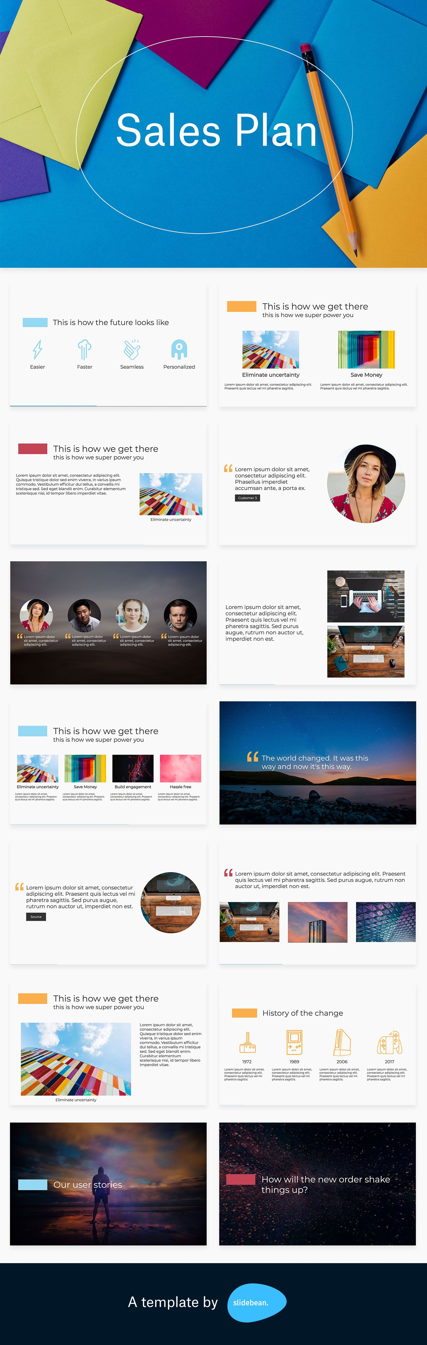 Sales Plan Template Free Pdf Ppt Download Slidebean Templates How To Plan Presentation Template Free