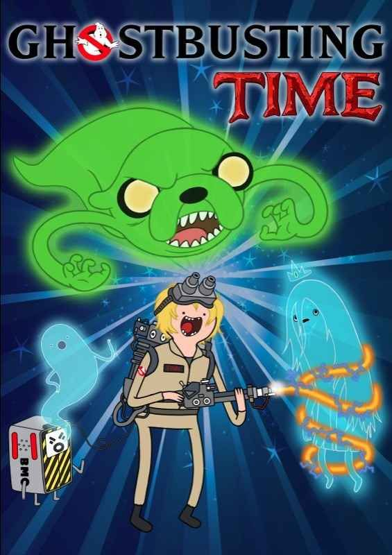 """Ghostbusting Time   32 Mashups That Prove """"Adventure Time"""" Makes Everything Way More Awesome"""