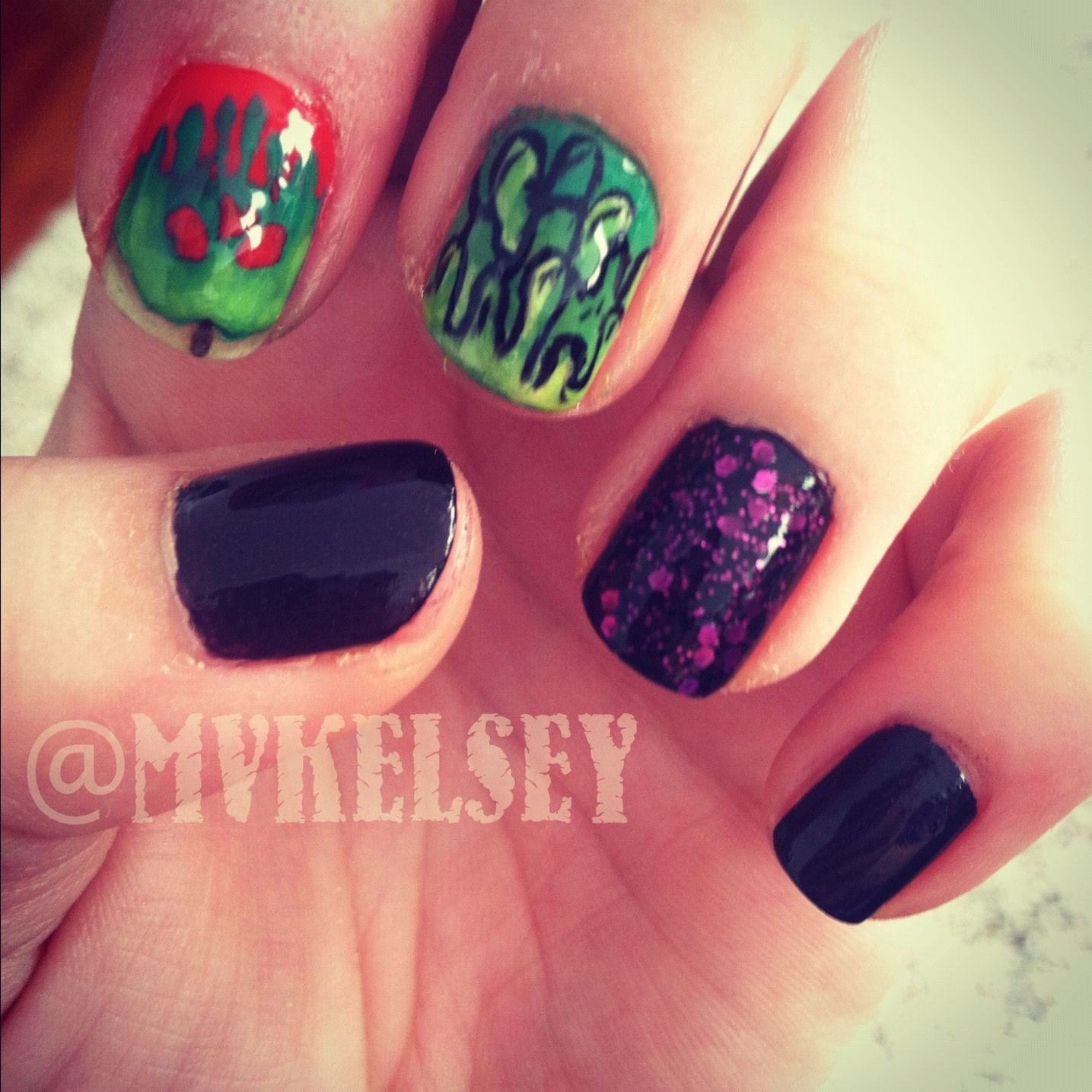 Disney Evil Queen nails | My nails | Pinterest | Evil queens
