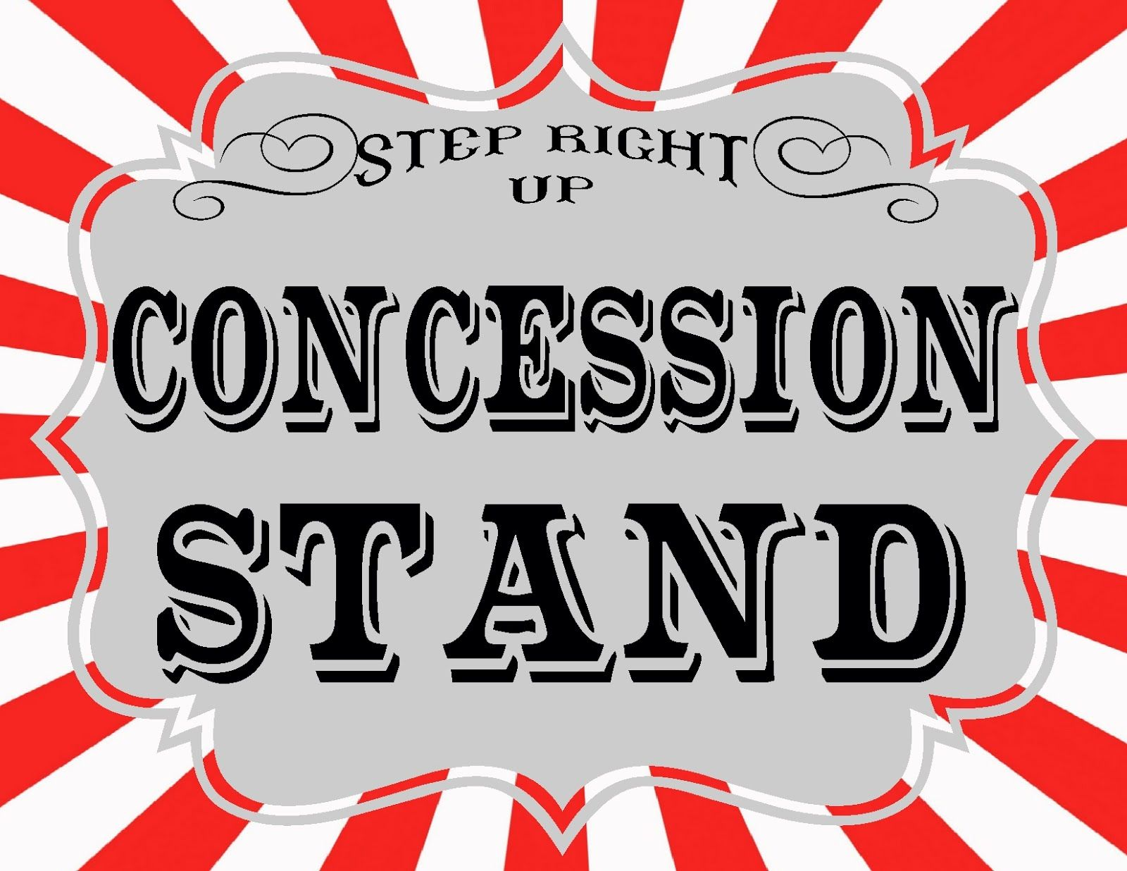 It is an image of Delicate Concession Stand Signs Printable