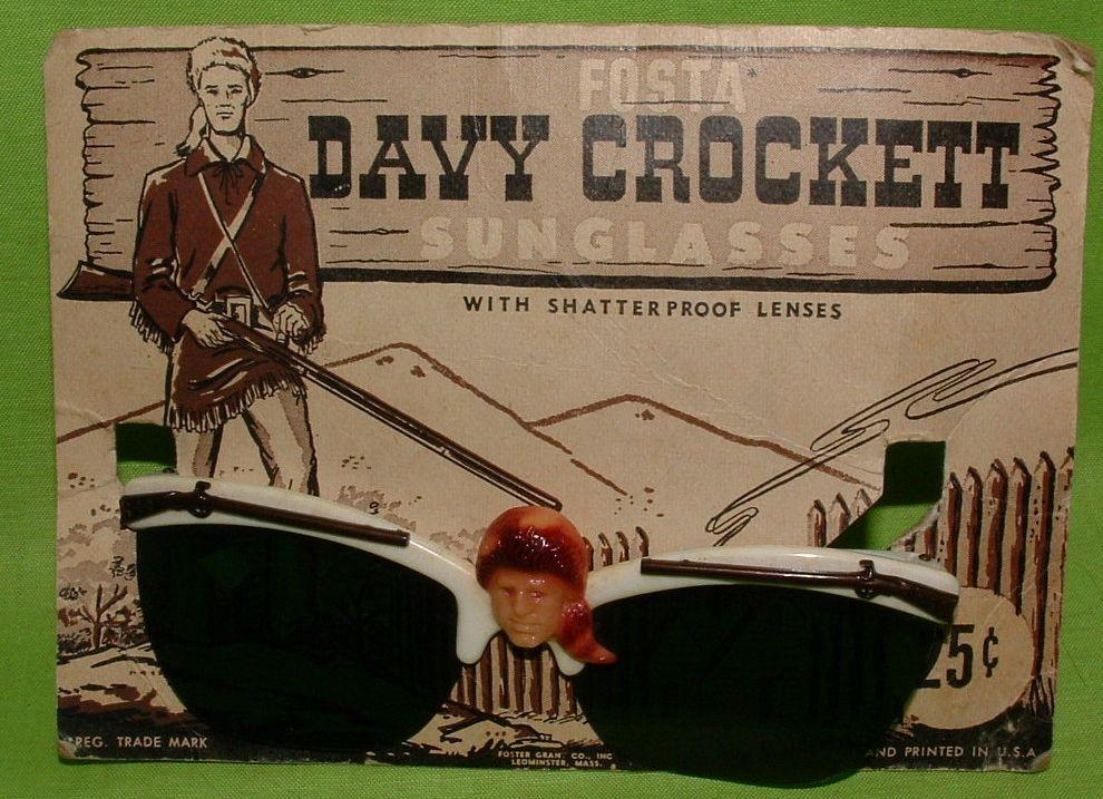 Davy Crockett sunglasses (1950's).
