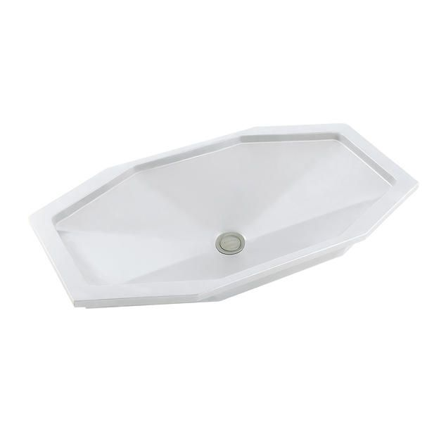 Kallista: Jeton(R) by Bill Sofield Undercounter Basin with Overflow: P72044-WO