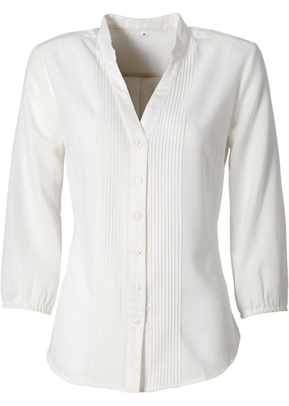 Veja agora:Camisa no modelo gola de padre mangas 3/4 com elástico e ...