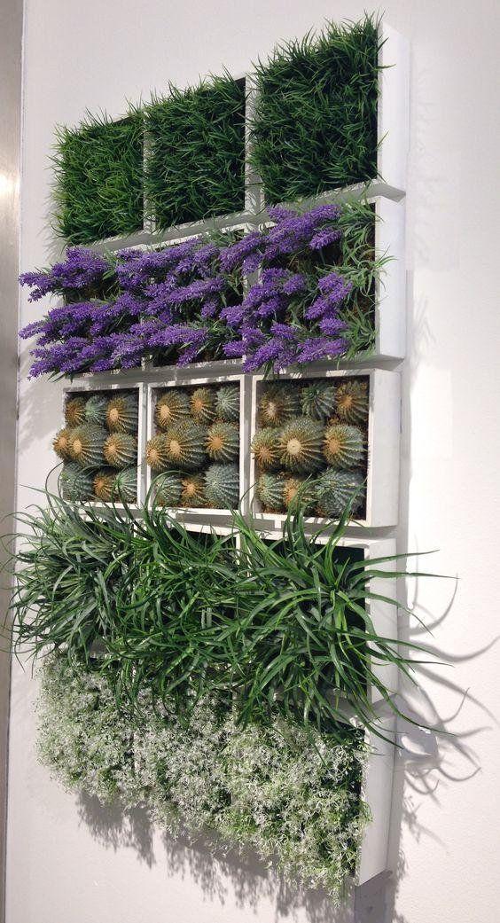 25 modelos de jardines verticales para espacios pequeños Jardín