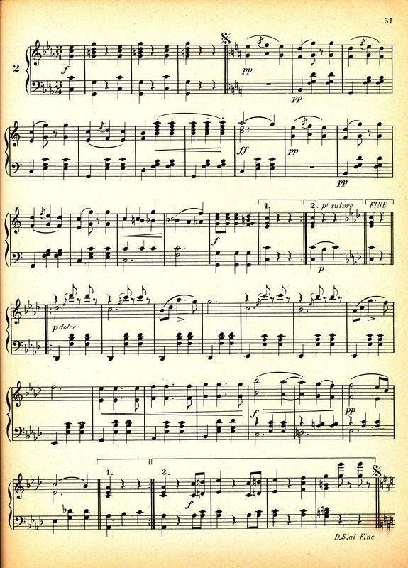 Partition Bis Papier Vintage Partitions A Imprimer Papier Musique