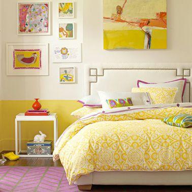 La peinture jaune pour une chambre c\'est chouette ! | Deco de ...