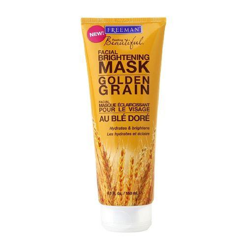Freeman Feeling Beautiful Brightening Mask, Golden Grain 6 oz (Pack of 4) MyChelle Dermaceuticals MyChelle  Mud Mask, 1.2 oz
