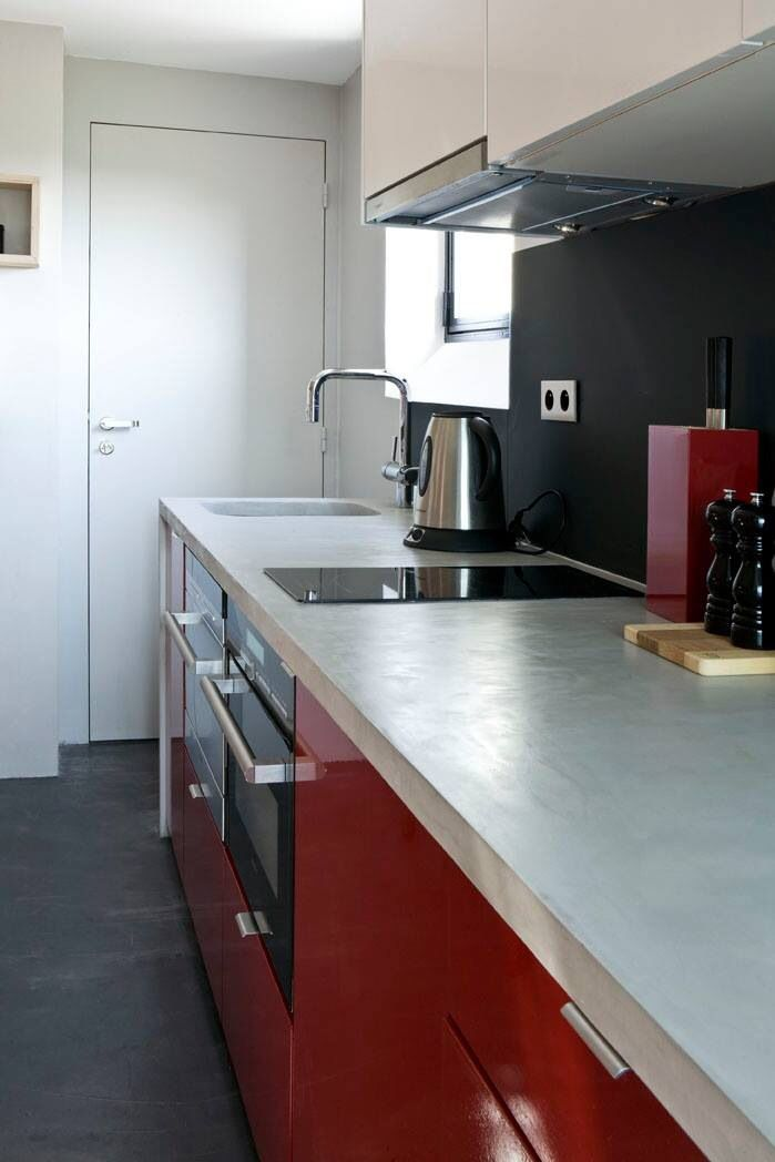 Kitchen Cabinets For Apartments pintiny on 16m2 modern apartment in parismarc baillargeon