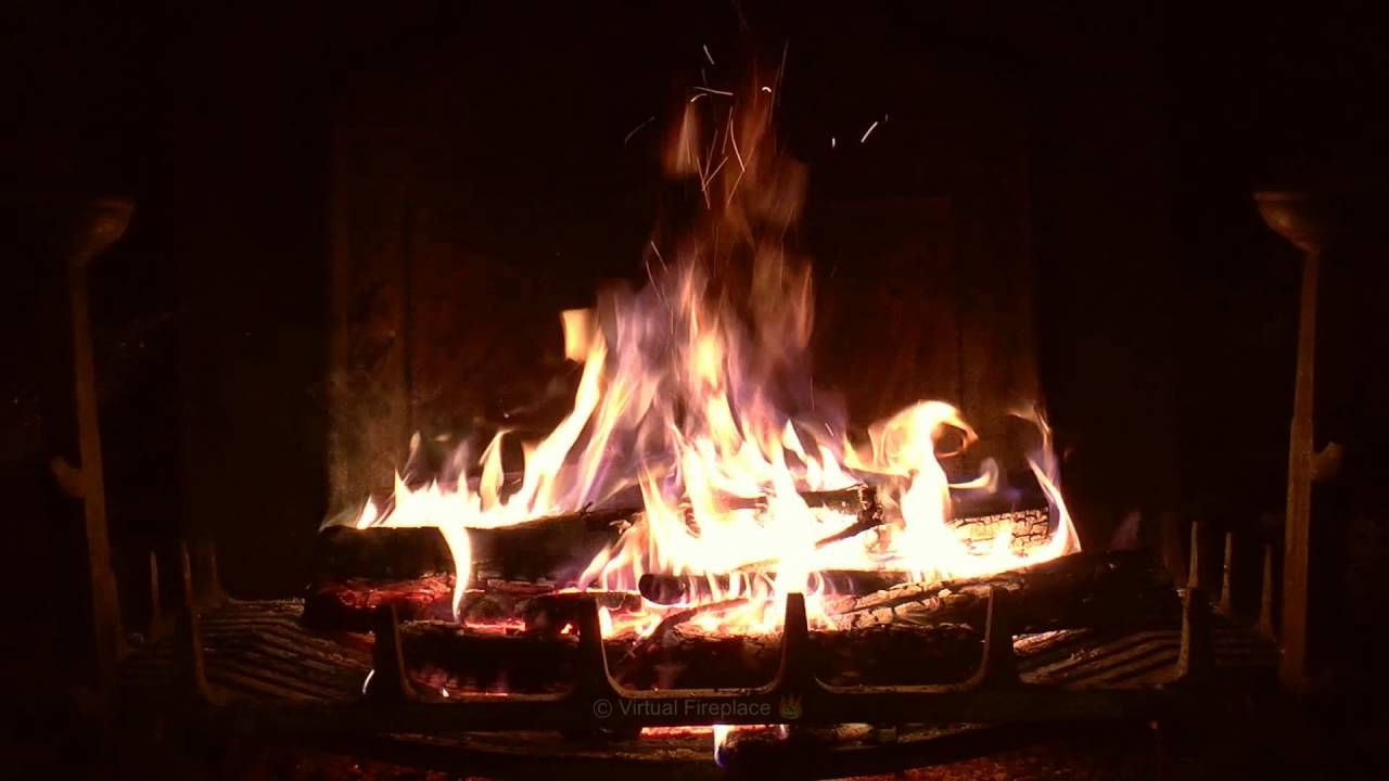 Crackling Fireplace With Thunder Rain And Howling Wind Sounds Long