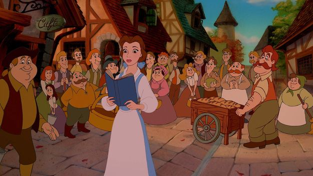 """Belle is the only person in her village who wears blue, which is meant to symbolize how different she is from everyone else.   30 Things You Might Not Know About """"Beauty And The Beast"""""""