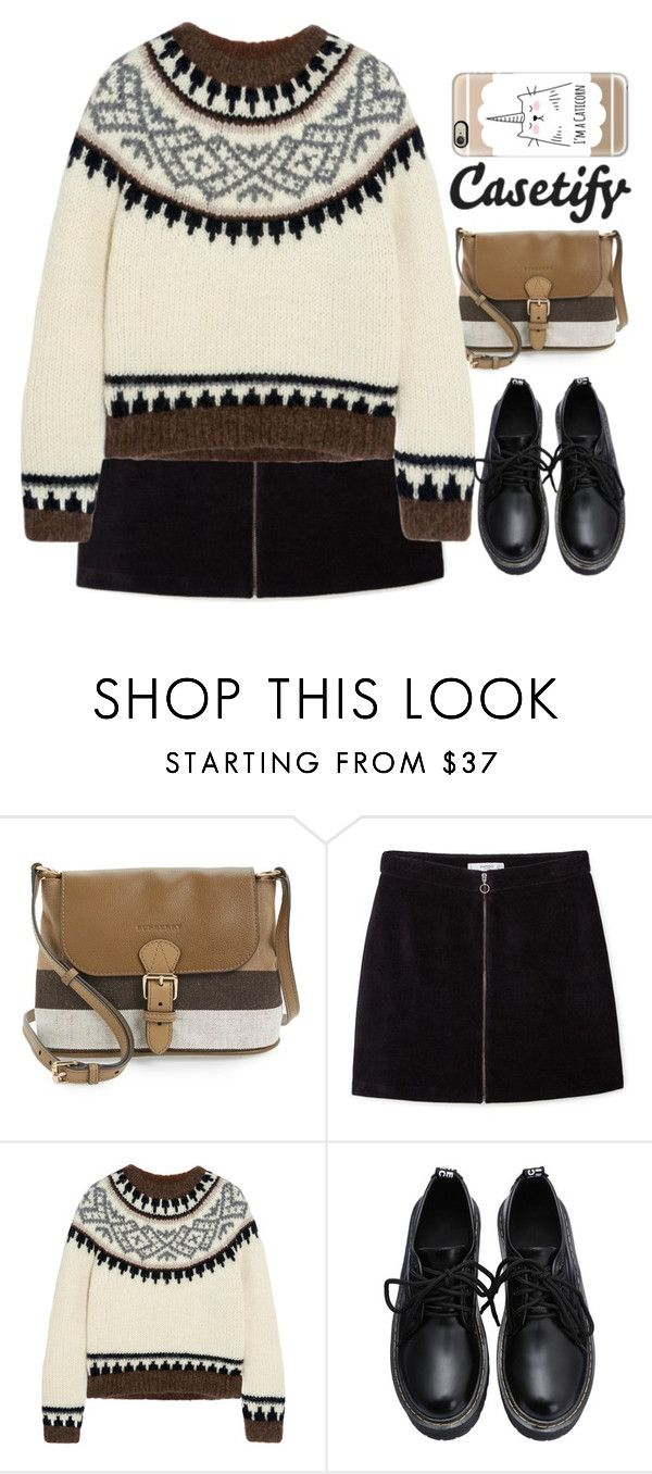 """""""▐ #41▐"""" by songjieun ❤ liked on Polyvore featuring Burberry, MANGO, J.Crew and Casetify"""