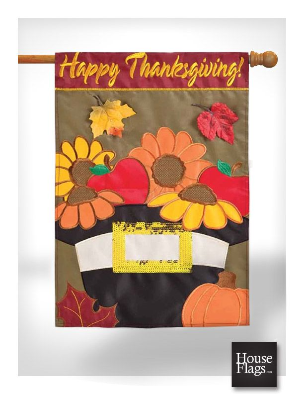 Decorative Thanksgiving Flag A Pilgrims Harvest House Flag Houseflags Com Thanksgiving Flag Flag Decor House Flags