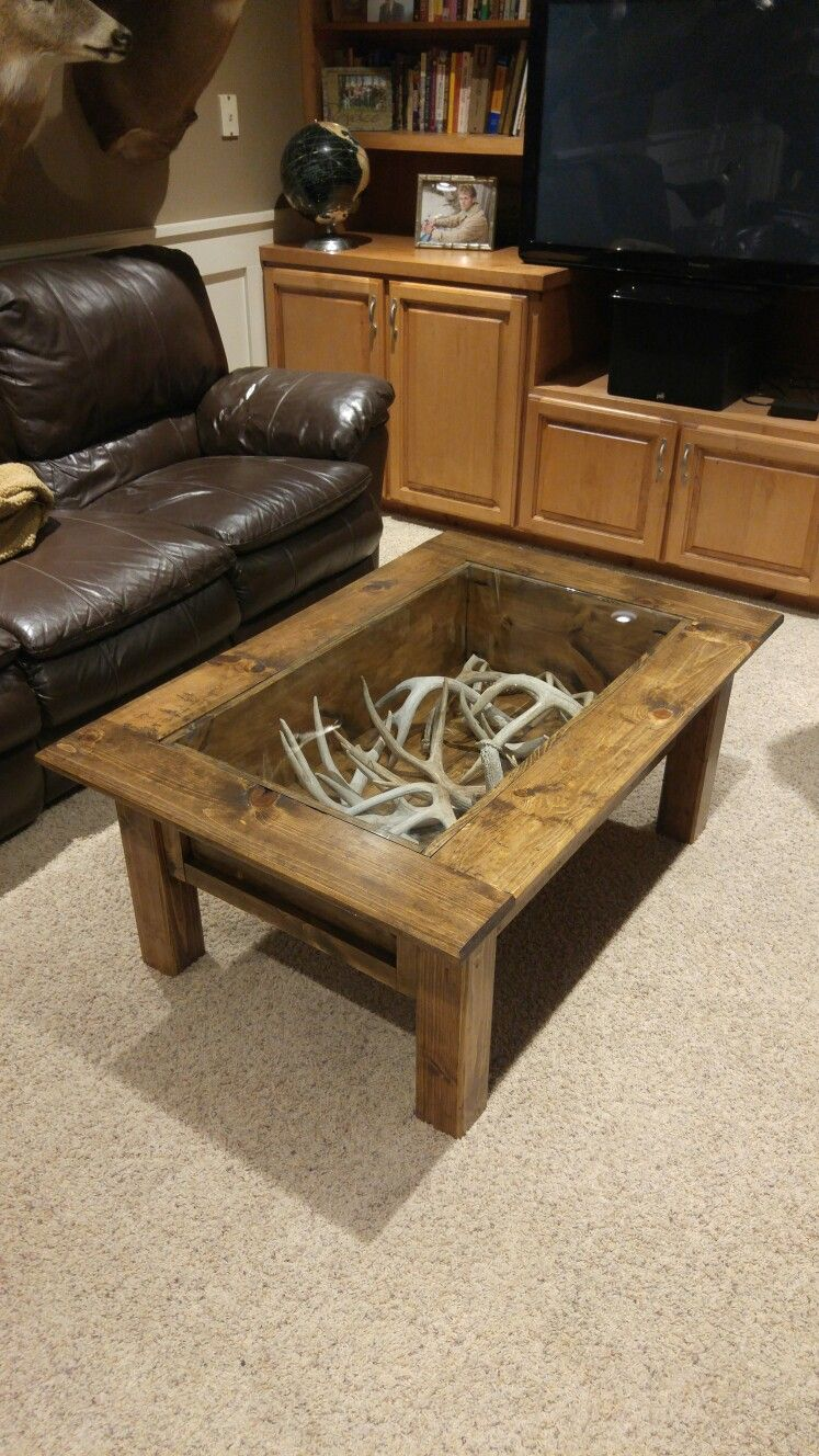 Deer Antler Coffee Table Deer Hunting Decor Coffee Table Wood