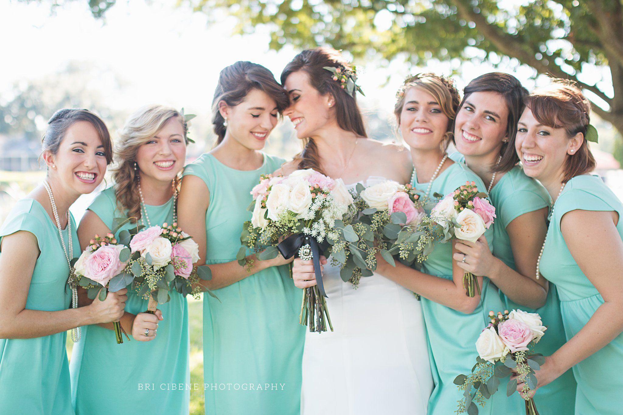 Wedding dresses lakeland fl  beautiful teal bridesmaid dresses  Bri Cibene Design u Photography