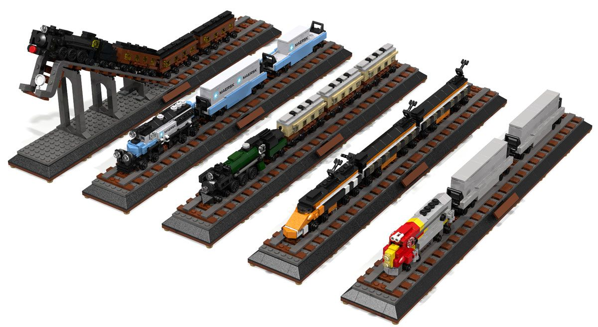 Lego Microscale Train Instructions Google Search Lego Microscale
