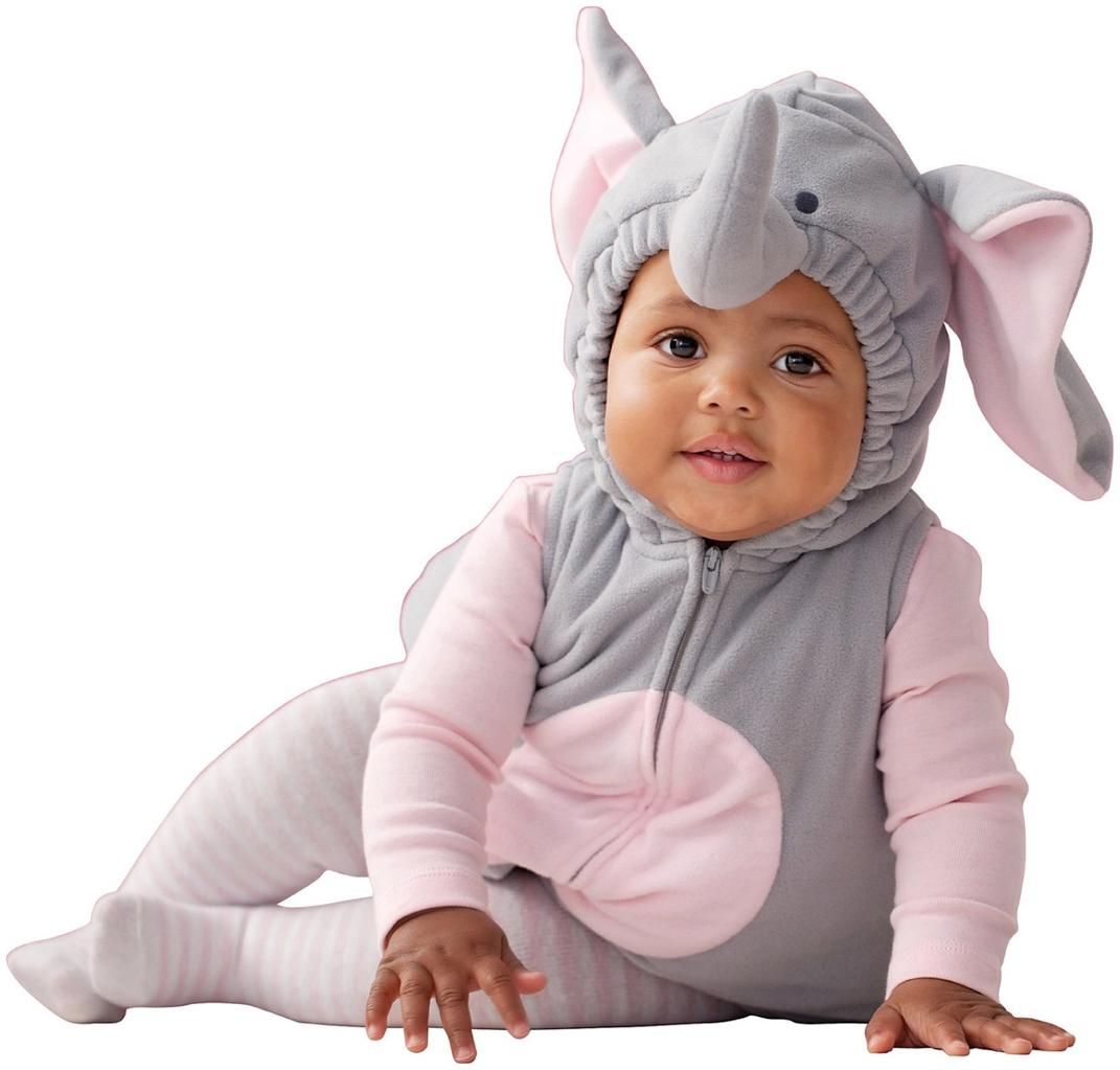 carters elephant 3 pc fleece baby girl halloween costume sz 6 9 12 months - Halloween Costume For Baby Girls