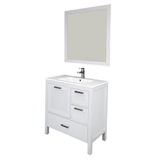 Siena 36 Vanity w/ Solid Doors  Ceramic Sink (Espresso), Brown