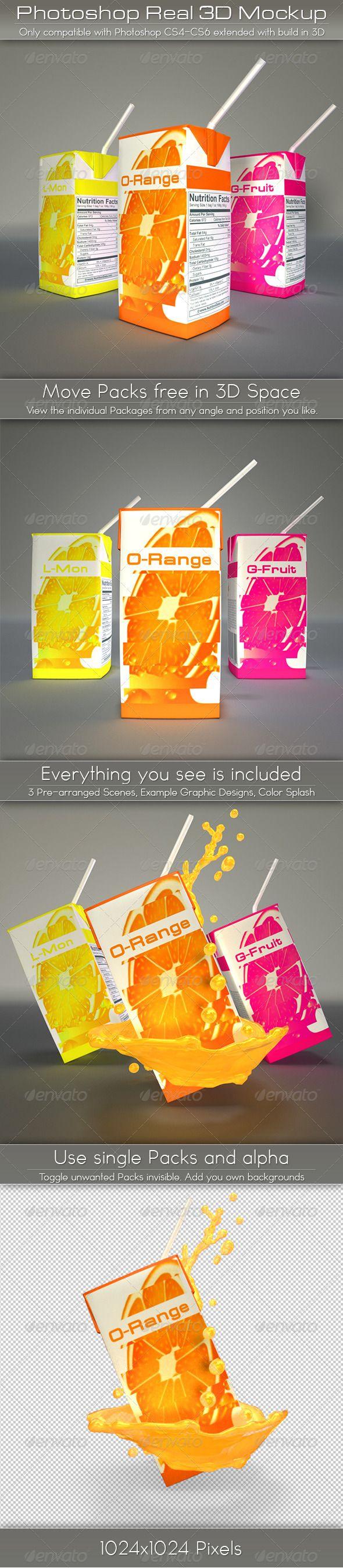 Mini Juice Carton Tetra Pack Mockup — Photoshop PSD #mini #mockup • Available here → https://graphicriver.net/item/mini-juice-carton-tetra-pack-mockup/4611032?ref=pxcr