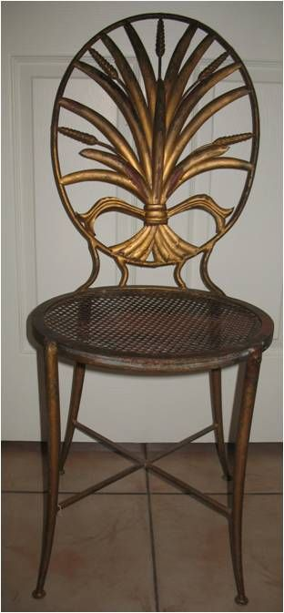 Found this gorgeous antique brass chair antiquing recently