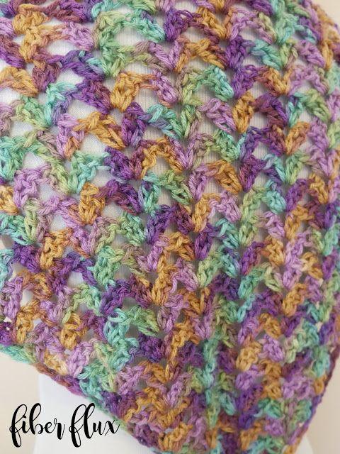 Free Crochet Pattern...Watercolor Landscape Shawlette!   Motifler ...