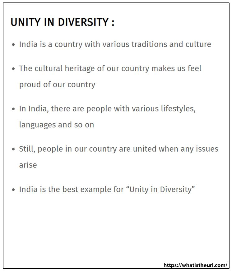 Unity In Diversity Essay Easy We The People