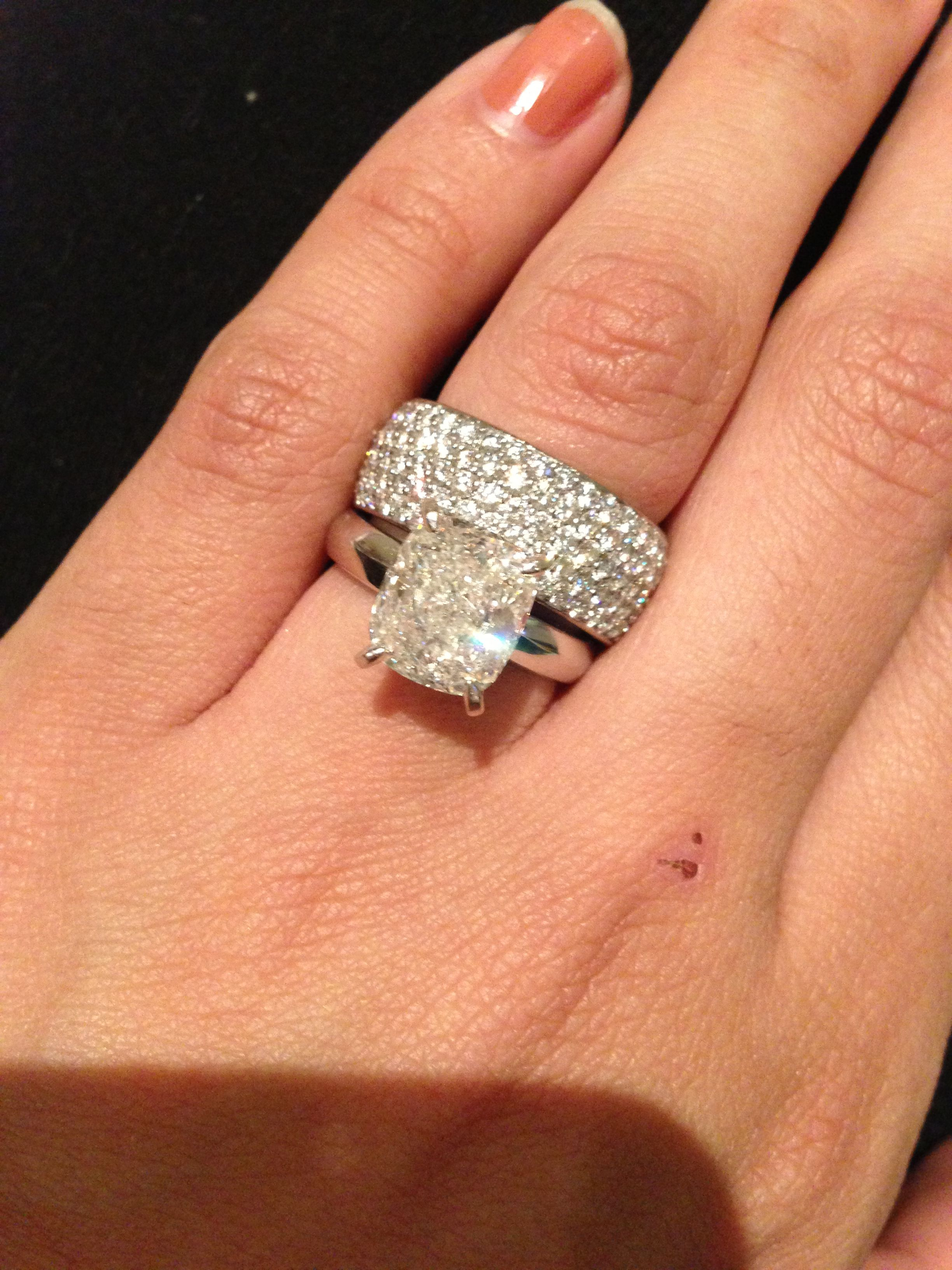 My Wedding Set Tiffany Engagement Ring 35 Carats Cartier Diamond Band 2