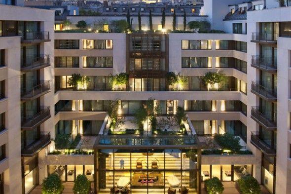 Mandarin Oriental Paris Jardin exterieur #luxe #palace #design #architecture #Paris