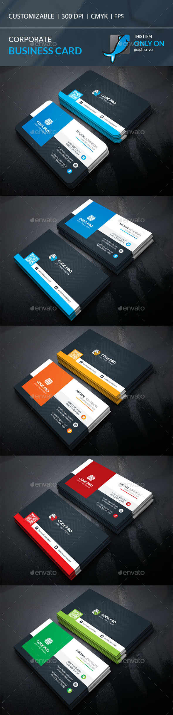 Business Card Template Vector EPS, AI Illustrator | Books & Layouts ...