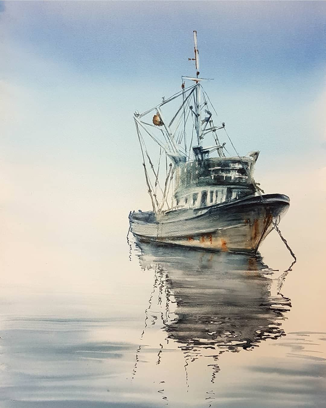Watercolor Art On Instagram Watercolor By Juliazilbert