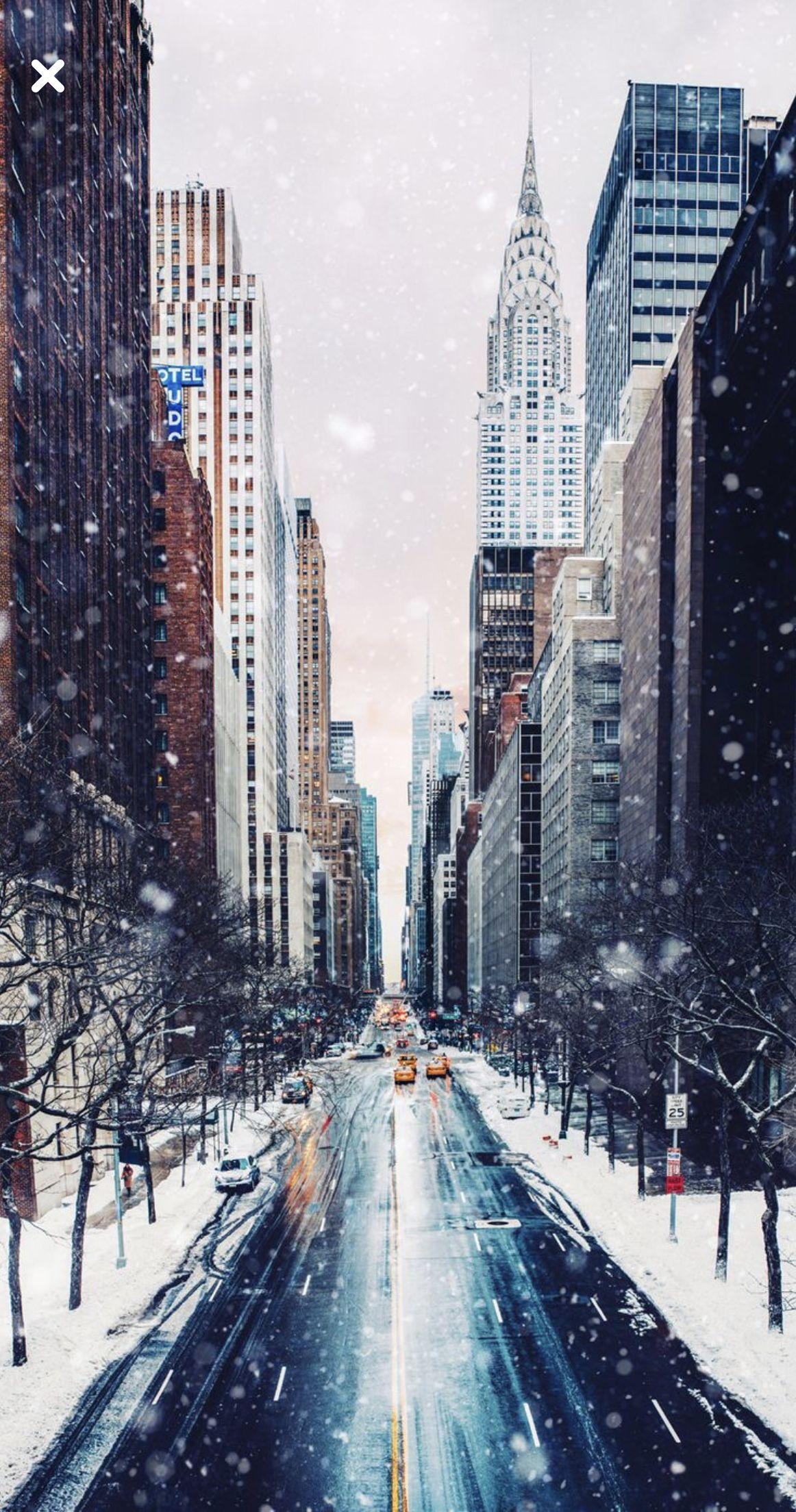 Nyc Winter Iphone Wallpaper