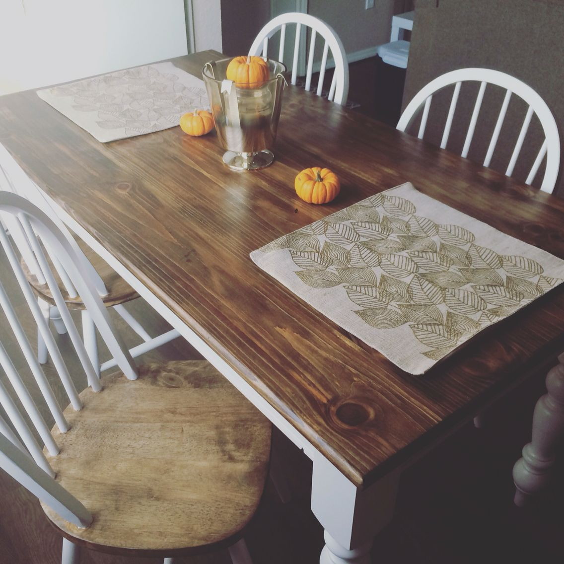 DIY Table Chairs From Garden Ridge Sanded Down Stained Painted Is An Old Display Stein Mart