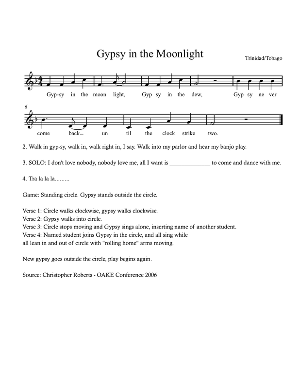 Lyric high low chicka low lyrics : Gypsy in the Moonlight - fun singing game for upper elementary. I ...