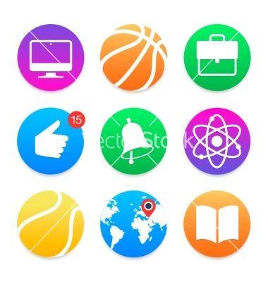 Education icons school symbols set vector 2626383 - by ikopylov on VectorStock®