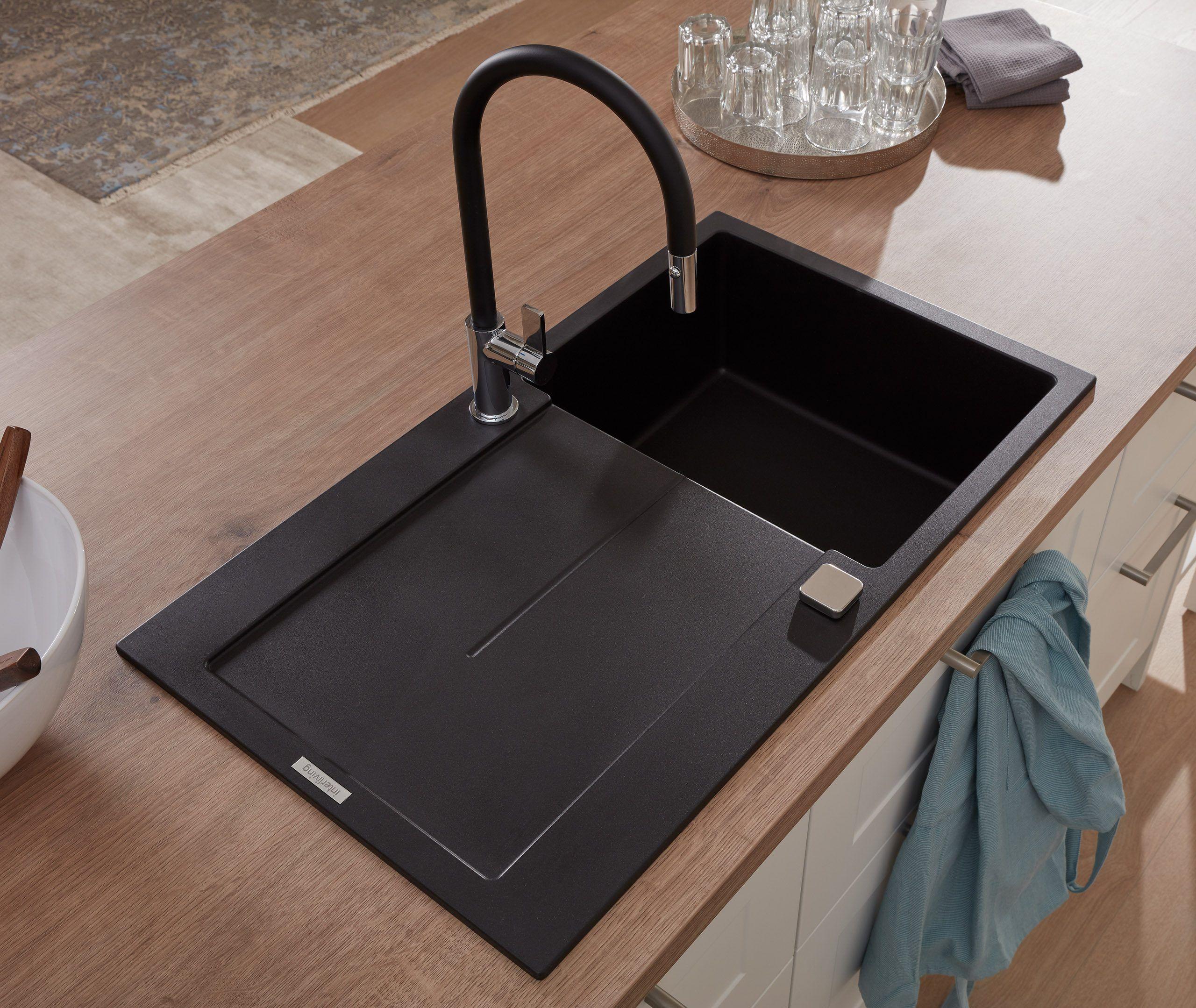 Die Interliving Küche Serie 19 hat eine exklusive Einbauspüle in