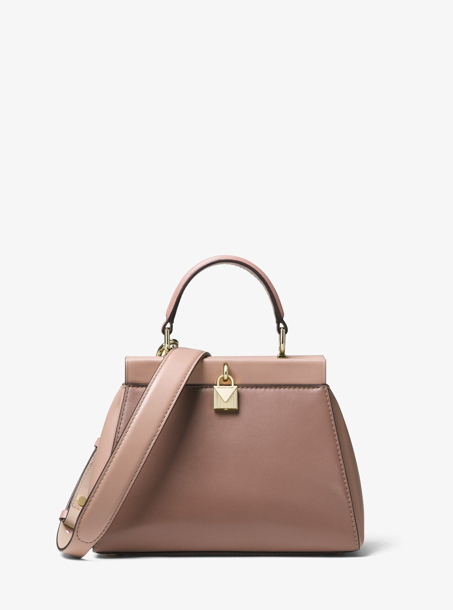 Michael Kors Gramercy Small Color-Block Leather Frame Satchel - Dstyrs Multi 684f1ce699
