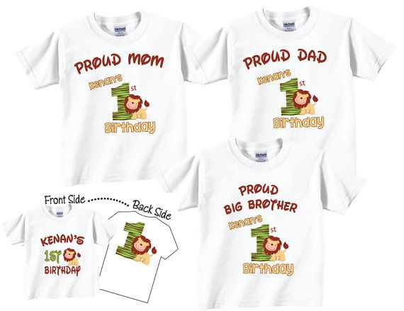 53309f2a 4 shirt set Birthday Shirt Set for Birthday Boy, Mom, Dad and ...