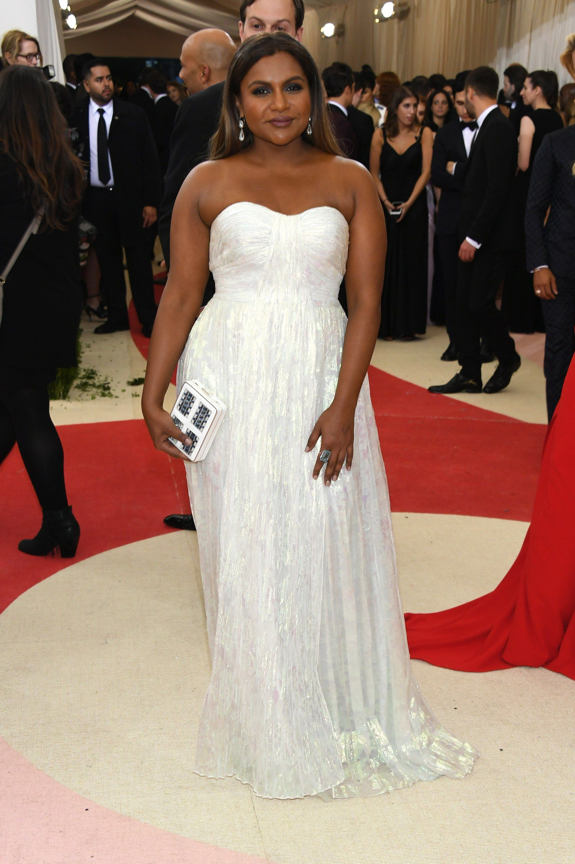 Mindy Kaling S Style Evolution From Emerging Comedy Star To Leading Lady And Rumored Mom To Be Mermaid Wedding Dress Mindy Kaling Style Met Gala 2016