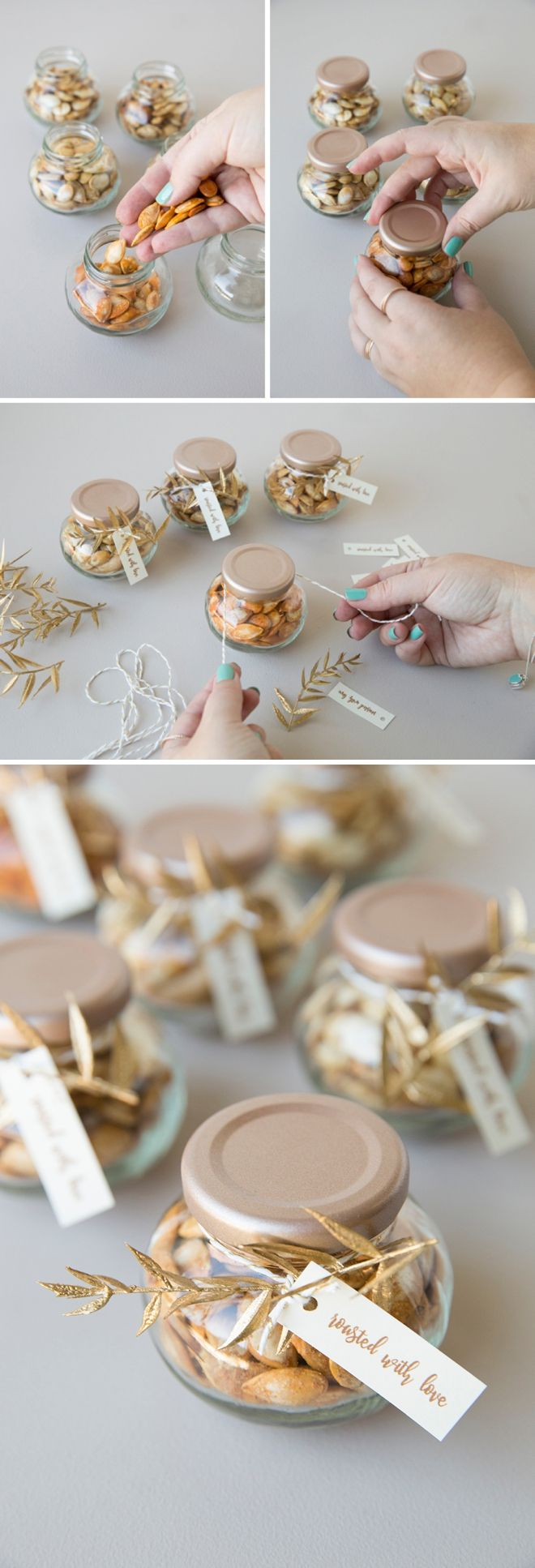 Roast Your Own Bulk Pumpkin Seeds As Fall Wedding Favors! #fallweddingideas