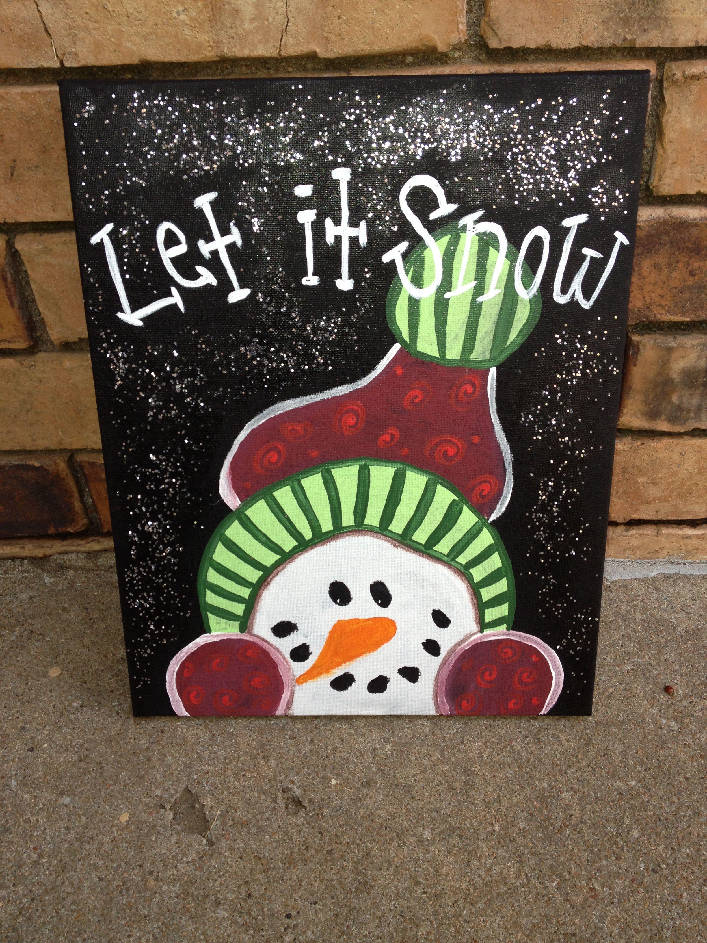 Christmas canvas Christmas paintings, Christmas