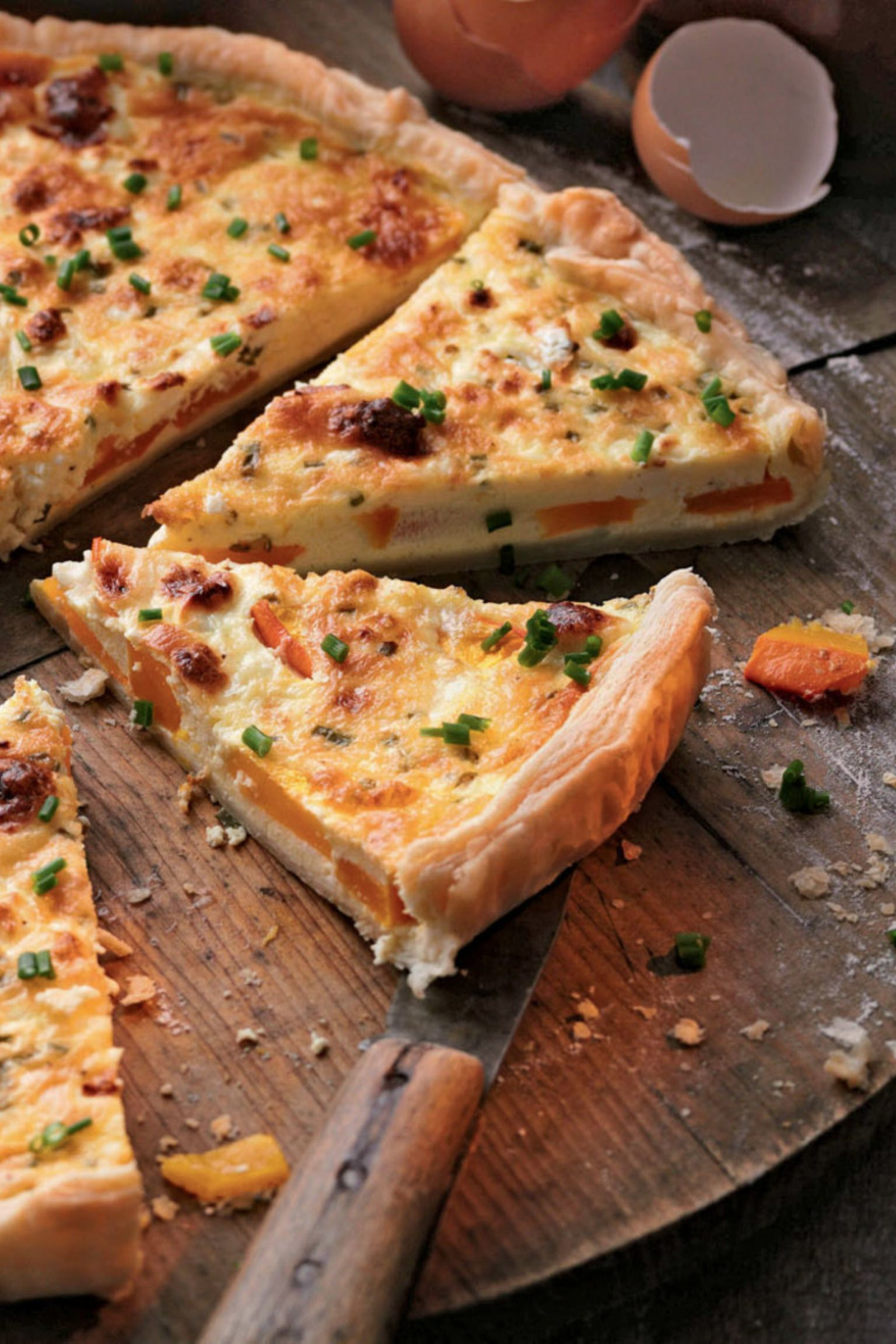 Rezept: Kürbis-Schafskäse-Tarte #herbstgerichte