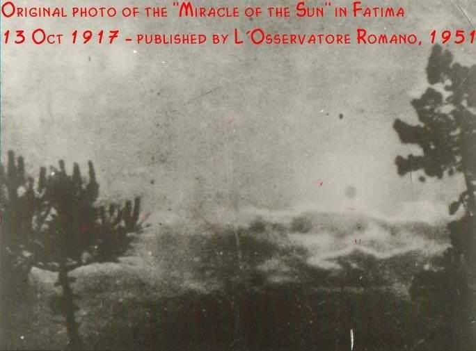 Fatima Miracle of the sun.
