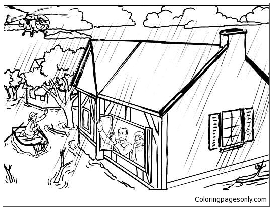Flood Coloring Page Free Coloring Pages Online